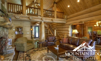 Log Home Interior Gallery