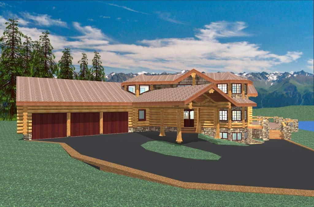 Camden 4937 sq ft log home kit log cabin kit mountain for Luxury log cabin kits