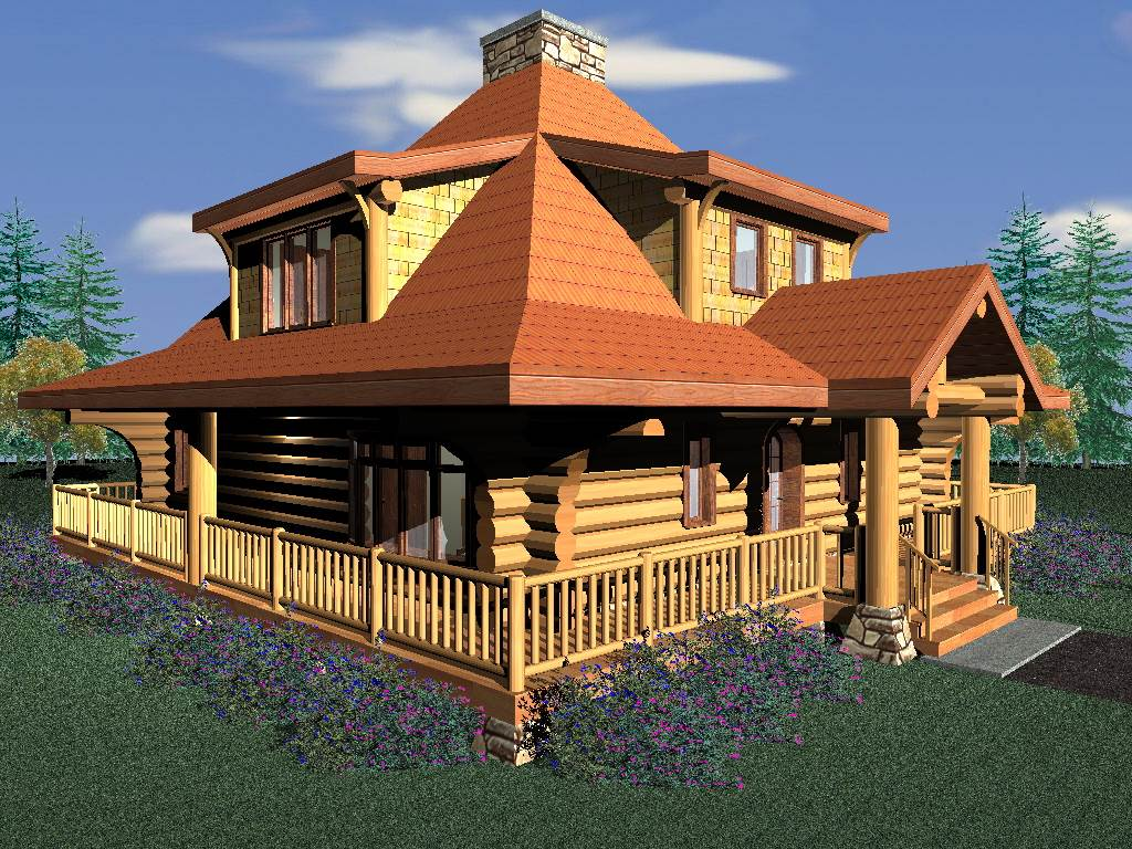 Eagle s nest 1777 sq ft log home kit log cabin kit for Eagles ridge log cabin