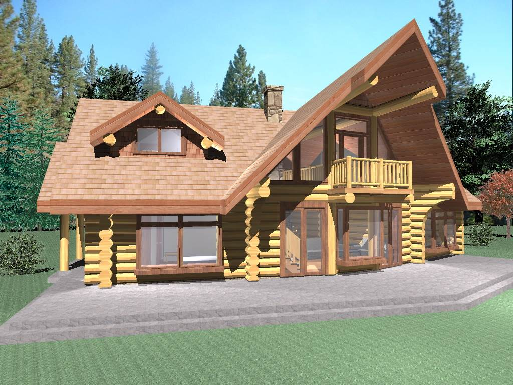 Hawk 1725 sq ft log home kit log cabin kit mountain ridge for 4 bedroom log cabin kits