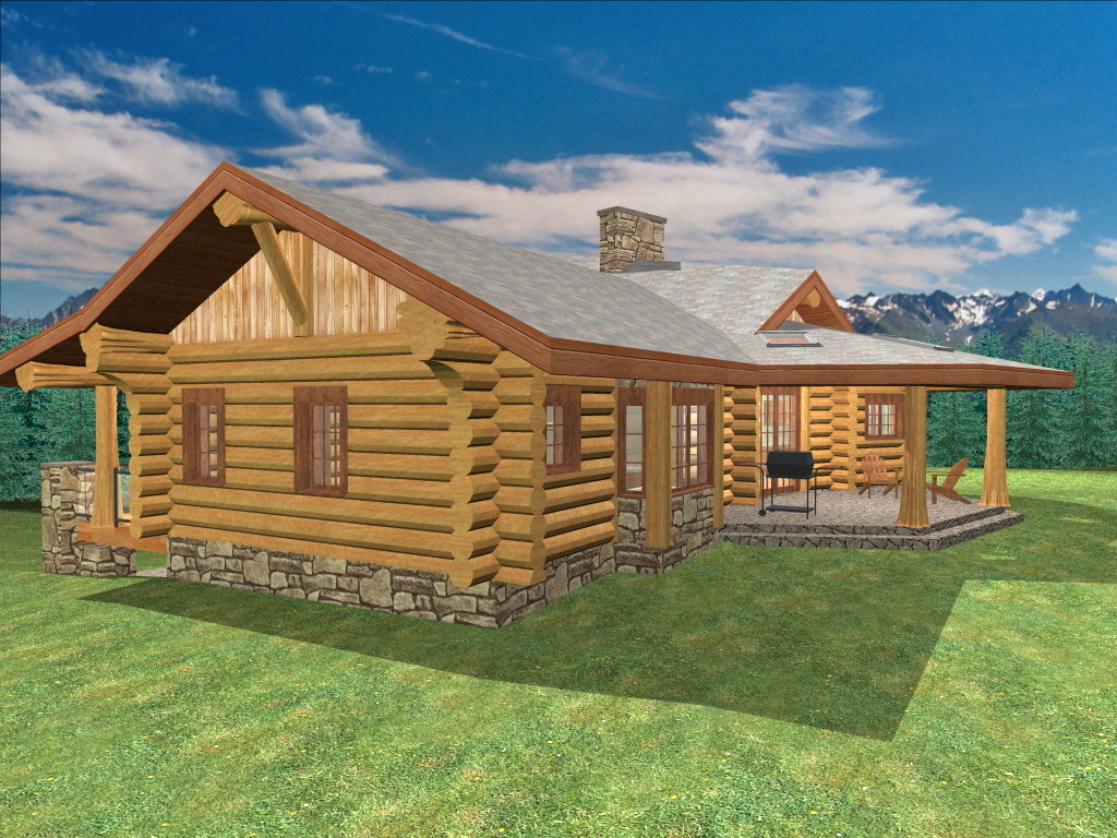 Malta 1299 sq ft log home kit log cabin kit mountain ridge for 2 bed 2 bath log cabin kits