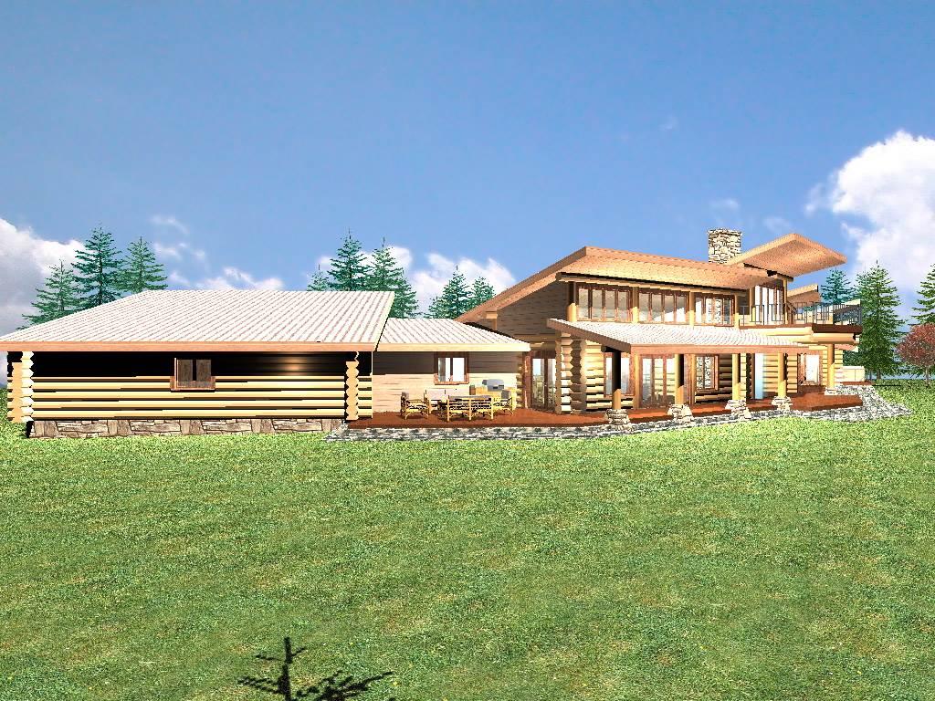 Retreat 3030 sq ft log home kit log cabin kit mountain for 4 bedroom log cabin kits