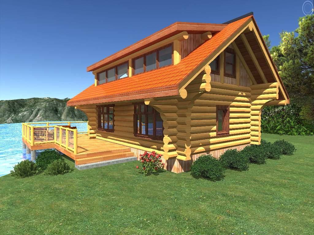 Sanctuary 978 sq ft log cabin kit log home kits for Chalet cabin kits