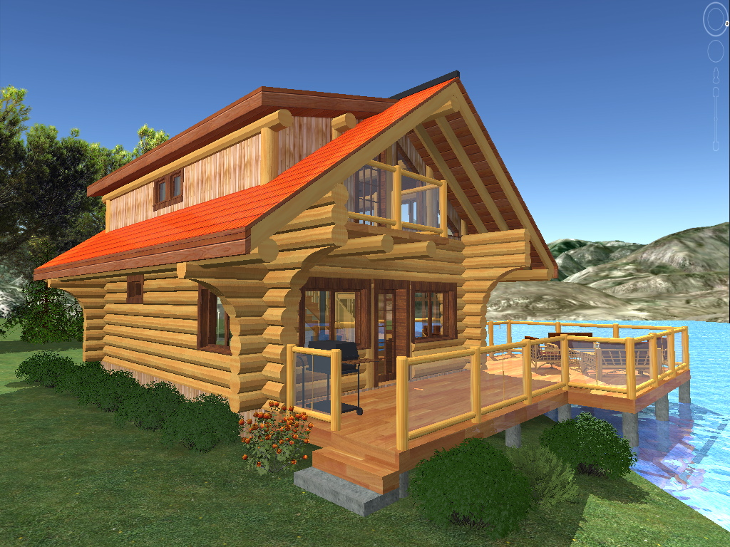 2 bedroom log home plans for Cabin and cottage kits