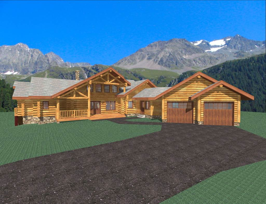 Colorado 2081 Sq Ft Log Home Kit Log Cabin Kit