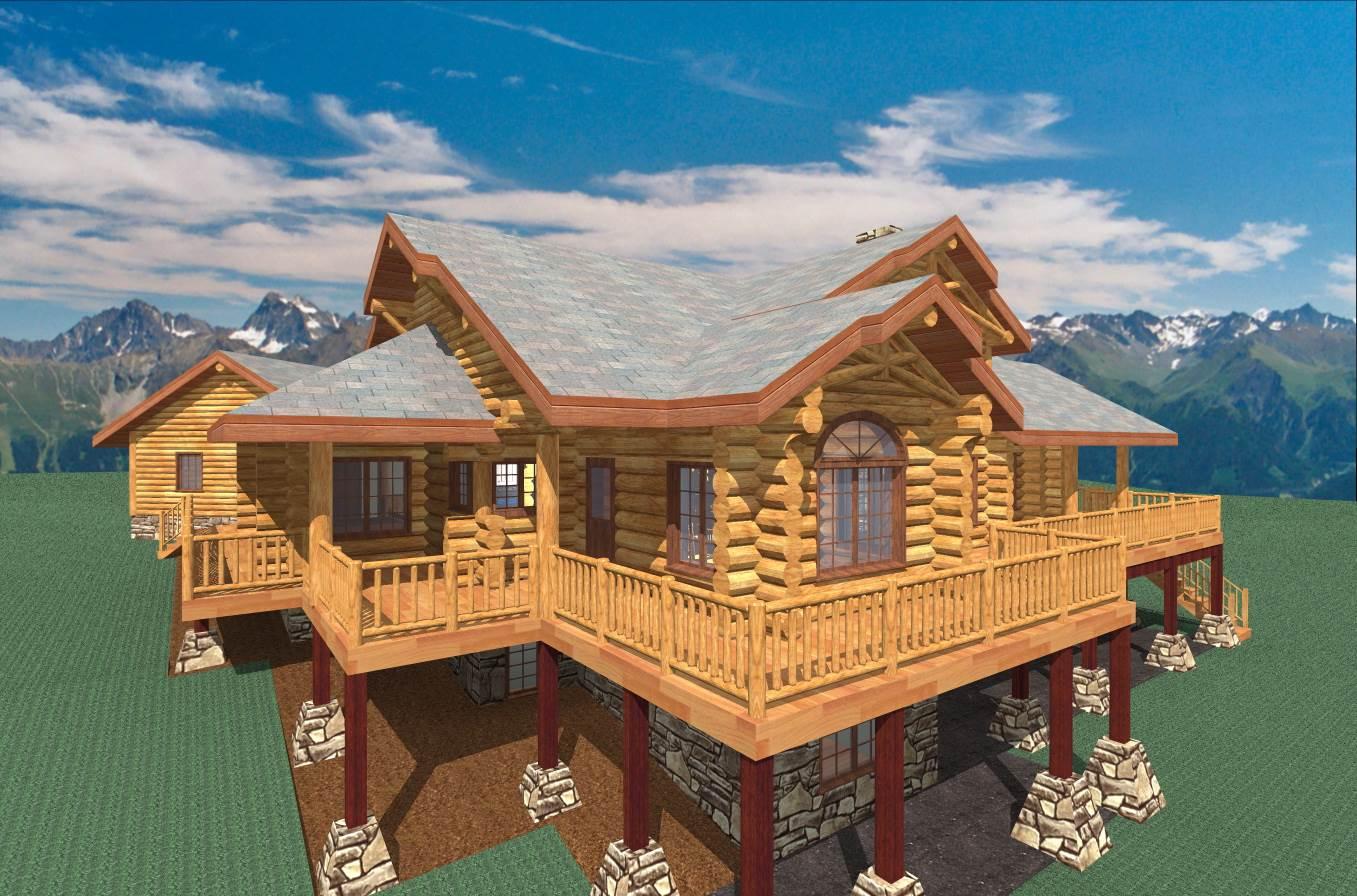 Colorado 2081 Sq Ft Log Home Kit Log Cabin Kit