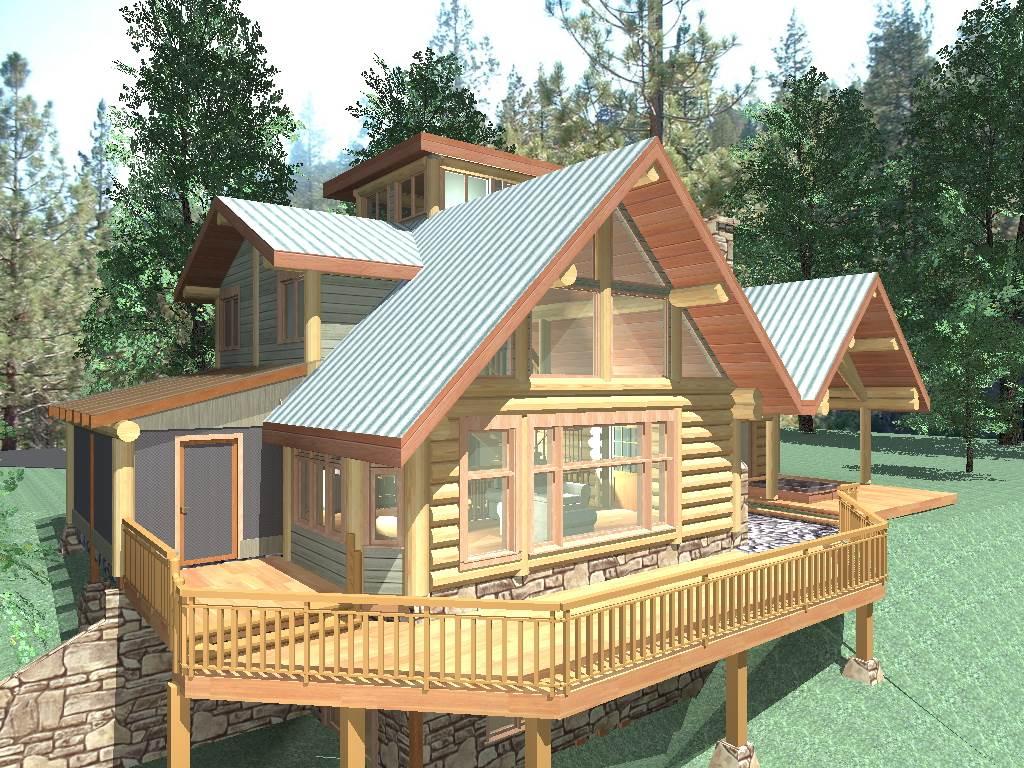 Gilmore 1624 sq ft log home kit log cabin kit mountain for Log cabin kits 2000 sq ft