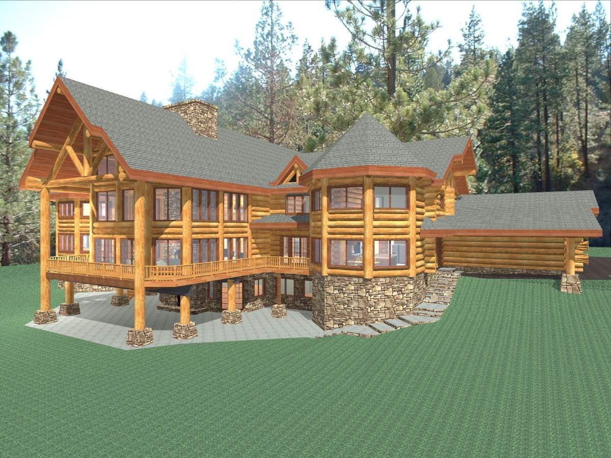 hawkeye 15281 sq ft luxury log home plans log cabin kit mountain
