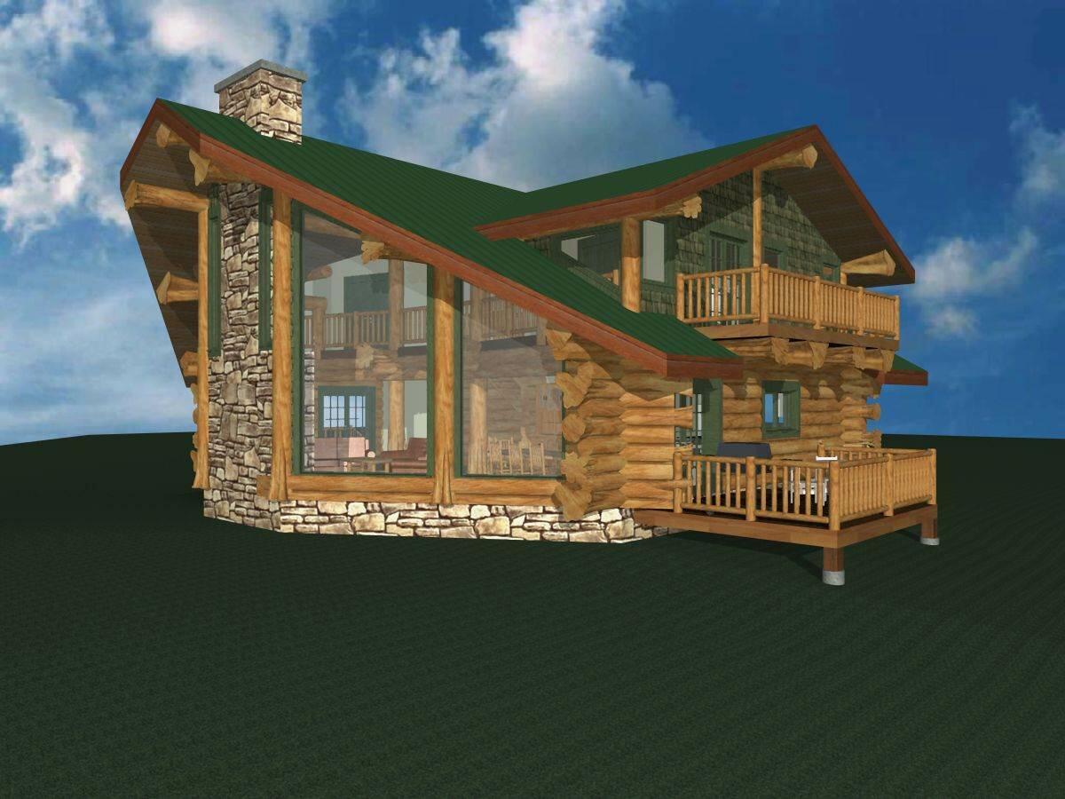 Oregon 2724 Sq Ft Log Home Kit Log Cabin Kit Mountain