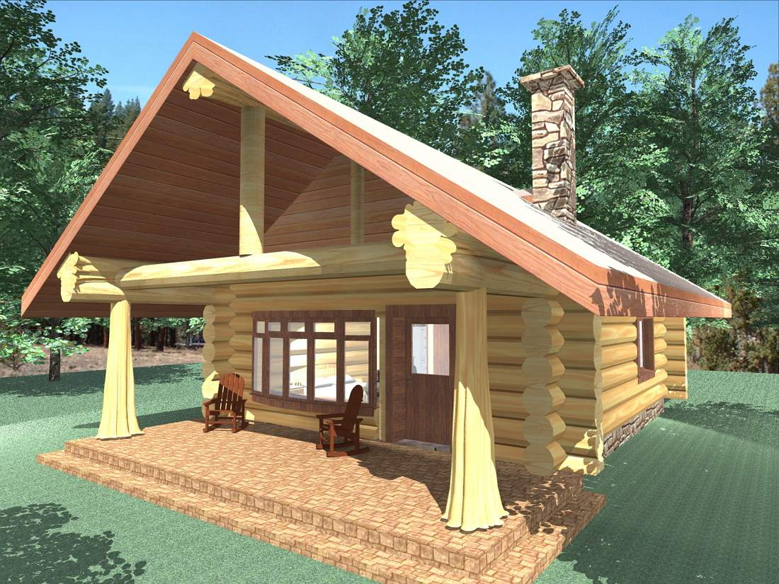 Honeymoon bay 600 sq ft log cabin kit log home kit for Cabin and cottage kits