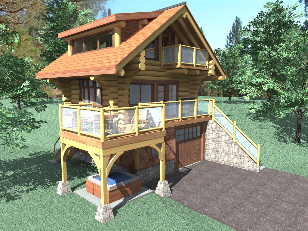 Bachelor 484 sq ft log home kit log cabin kit mountain for 1000 sq ft log cabin kits