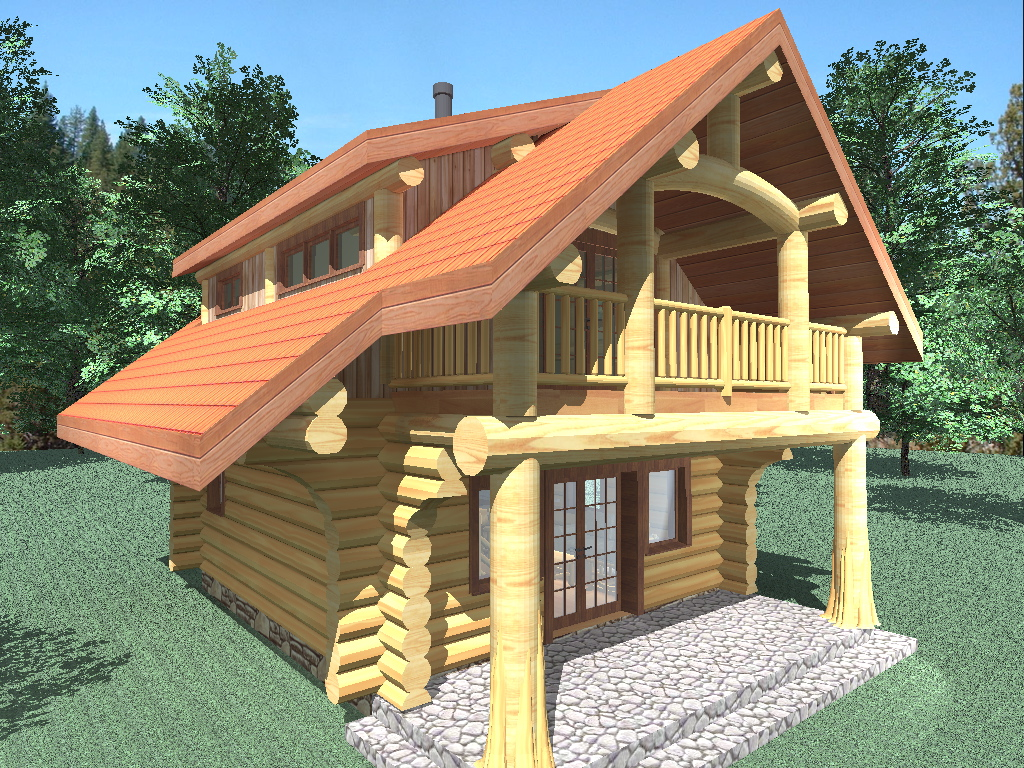 Riverside 833 Sq Ft Log Home Kit Log Cabin Kit